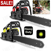 2 Cycle Guide Board Chainsaw Gasoline Powered Handheld Chain Saw 58cc / H 24