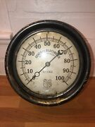 Ashcroft Pressure Gauge Vintage General Electric 1st Stage 100lb Schenectady Ny
