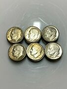 Lot Of 36 Roosevelt Silver Dimes W/ S 3 And D 16 Mint Marks - 90 Silver Coins