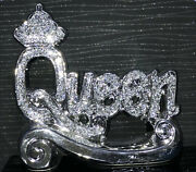 A Stunning Silver Crushed Diamond Andlsquoqueenandrsquo Ornament