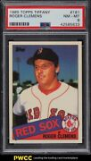 1985 Topps Roger Clemens Rookie Rc 181 Psa 8 Nm-mt