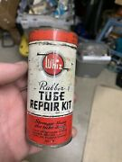 Vintage Whiz Rubber Repair Kit Tube Tire Gas And Oil Advertising Tin Can