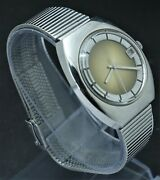 Nos Vintage Citizen 63-1752 Hand Winding Watch Cal1800 With Date Brown Dial70and039s