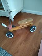 Radio Flyer Vintage Kids Ride On Hard Maple Wooden Scooter Made In Usa.