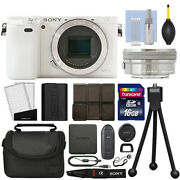 Sony Alpha A6000 Mirrorless Digital Camera With 16-50mm Lens White + 16gb Kit