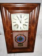 Antique Waterbury Weight Driven Pendulum Wind Up Wall Clock With Chime 2