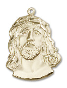 Bliss Holy Face Of Jesus Christ Ecce Homo 1 1/8 X 7/8 Inch 14kt Gold Medal