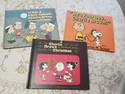 3 Charlie Brown Books 1st Editions He's Your Dog Charlie Brown Christmas Etc.