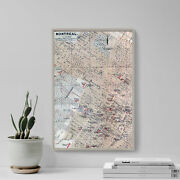 Vintage Map Of Montreal, Canada From 1894 Print Poster Gift Ancient Historic