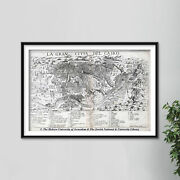 Vintage Map Of Cairo Egypt From 1575 Print Poster Gift Old Ancient Historic