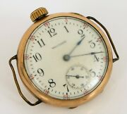 Antique Waltham Wwi Era Military Trench Watch Transitional Side Wind Gold Filled