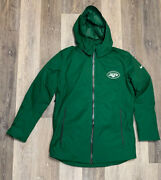 Nike Nfl New York Jets Storm Fit 550 Duck Down Parka Coat Green Men's Size Small