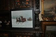 Great Horse Sled Painting