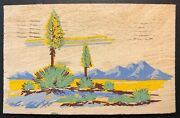 Yucca Wood Brevifolia Denver Colo Terminal Rpo 1945 Real Wood