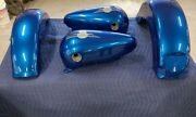 84-99 Harley Davidson Flstf-fatboy Paint Set Gas Tanks And Front And Rear Fender