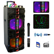 Befree Sound Dual 12 Inch Subwoofer Portable Bluetooth Party Speaker With Led...