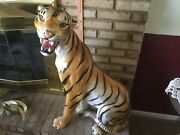 Tiger Ceramic Made In Italy Excellent Condition Huge About 34 Tall