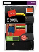 Hanes Menand039s Classics Comfort Flex Knit Boxers With An Exposed Waistband 5-pack