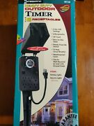 Intermatic Hb1116r Heavy Duty Outdoor Timer 6 Receptacles 2 On/off Settings