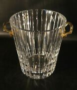 Baccarat Harmonie French Crystal Ice Bucket Champagne Signed.
