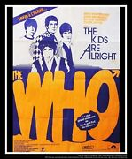 The Who Kids Are Alright 4x6 Ft Vintage French Grande Movie Poster Original 1979