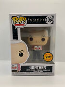 Funko Pop Television 1064 Gunther With Sign Chase Friends New In Hand
