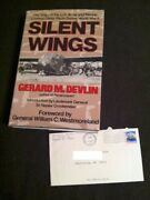 Silent Wings Gerard Devlin Ww2 Glider Pilots Signed Hc 1st Edition And Letter Card