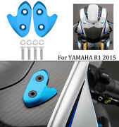 Rearview Mirror Block Off Base Plates Decorative Mount For Yamaha R1 Yzf-r1 2015