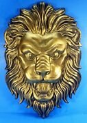 Lion Head 3d Carved In High Density Foam 19and039and039 W X 28and039and039 H X 3and039and039 Deep Usa Made