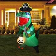 Goosh 7ft Halloween Inflatable Dinosaur Decorations Clearance Outdoor Blow Up...