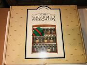 Vintage Mccormick Three Shelf Wooden Spice Rack With 24 Glass Bottles New