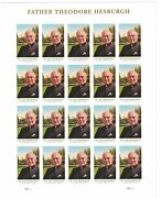 2017 Father Theodore Hesburgh Sheet Of 20 Forever Postage Stamps Scott 5241 Dame