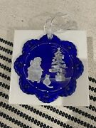 Fenton 100th Anniversary - Blue Glass - Numbered / Signed - Christmas Ornament