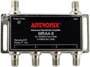Antronix Amp Mra4-8/ac Broadband Cable Tv Signal Booster With Power Supply