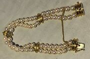 Honora 14k Double Row Pearl Bracelet 7 Wow, One Of A Kind