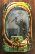 2001 Lotr Gimli With Battle Axe Swinging Action Toy Biz Lord Of The Rings Fotr