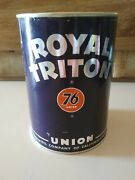 Vintage, Collectable, Full, Royal Triton Motor Oil, 1 Quart Can.