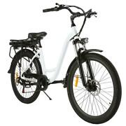 6 Speed Gear Electric Bicycle Aluminum Frame Disc Brake 350w With H1ps 01
