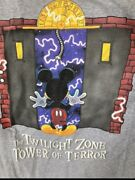 Vintage 90s Disney Tower Of Terror Ride Mickey Mouse Promo T Shirt Large