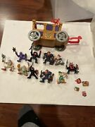Fisher Price Imaginext 1998 Robin Hood Lot Of 10 Figures Carriage Skeleton Lot