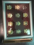 Disney Pavilions Of Epcot Framed Pin Set Limited Edition 500 Countries 2000 Rare