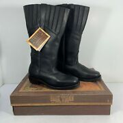 Oak Tree Preacher Mens Old West Boots Real Leather Handmade - Pick Size And Color