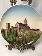 """Old 19th C Villeroy And Boch Mettlach Wall Plate Charger 1044/172 Die Wartburg 12"""""""