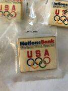 Nations Bank Official Sponsor 1996 Olympics Pin - Lot Of 8