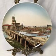 """19th C Villeroy And Boch Mettlach Wall Plate Charger 1044/169 Dresden Altstadt 12"""""""