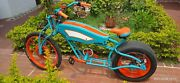Chopper Bicycle Electric Bike Vintage Unique With 15 Car Tire Hand Made
