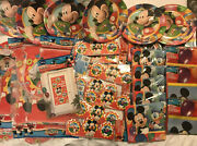 Job Lot Of 35 Packs Of Disney Mickey Mouse Party Napkins Plates Banner + More