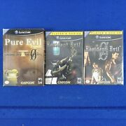 Gamecube Pure Evil 2 Pack Limited Edition Contains Resident Evil 1 + 0 Zero New