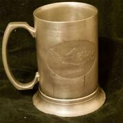 Pura Mug Indonesia Solid Pewter Cup W/ Map Embossed Silver 5 Stein Goblet Rare