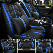 5-sits Car Seat Cover Pu Leather Protector Cushion Front Rear Luxury Interior Us